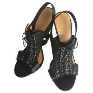 L.A.M.B. Lace-up Stiletto Heels